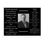Presidente Theodore Roosevelt Tarjeta Postal