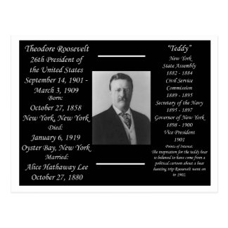Presidente Theodore Roosevelt Postales
