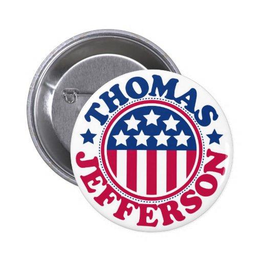 Presidente Thomas Jefferson de los E.E.U.U. Pin Redondo De 2 Pulgadas