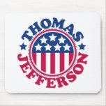 Presidente Thomas Jefferson de los E.E.U.U. Alfombrilla De Ratón