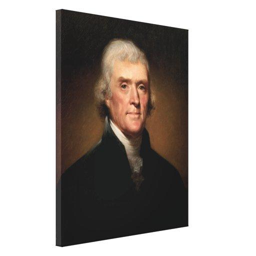 Presidente Thomas Jefferson Impresión En Lona Estirada