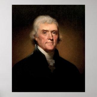 Presidente Thomas Jefferson Póster
