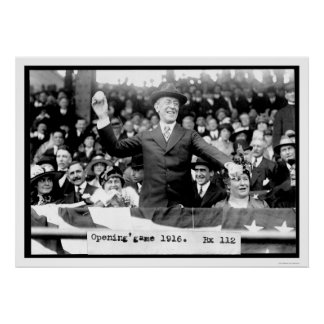 Presidente Throwing Baseball 1916 Impresiones