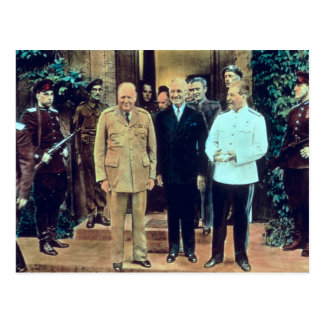 Presidente Truman y Joseph Stalin Postal