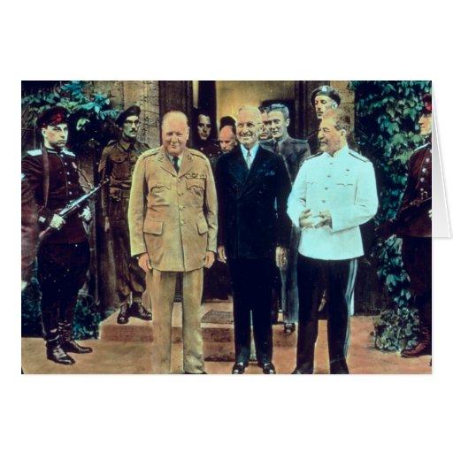Presidente Truman y Joseph Stalin Tarjeta De Felicitación