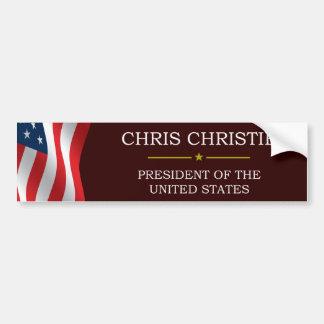 Presidente V3 de Cristo Christie Pegatina Para Coche