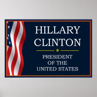 Presidente V3 de Hillary Clinton Póster