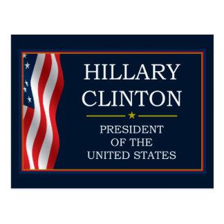 Presidente V3 de Hillary Clinton Postal