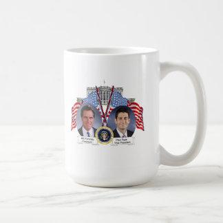 Presidente vicepresidente Mug de Mitt Romney Paul Taza Clásica