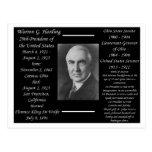 Presidente Warren G Harding Postales