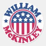 Presidente William McKinley de los E.E.U.U. Etiqueta