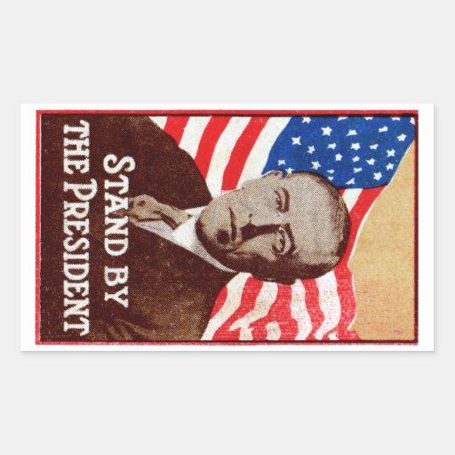 Presidente Wilson de 1916 ayudas Pegatina Rectangular