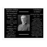 Presidente Woodrow Wilson Tarjeta Postal