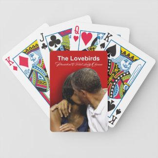 Presidente y primera señora Obama de los Lovebirds Baraja