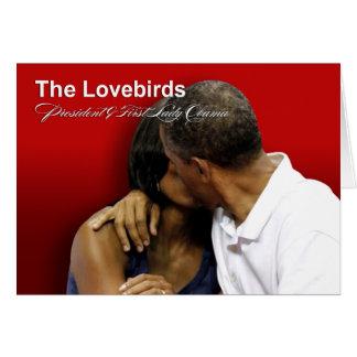 Presidente y primera señora Obama de los Lovebirds Tarjetón