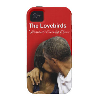 Presidente y primera señora Obama de los Lovebirds Vibe iPhone 4 Carcasa