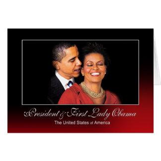 Presidente y primera señora Obama (el susurro) Tarjeta De Felicitación