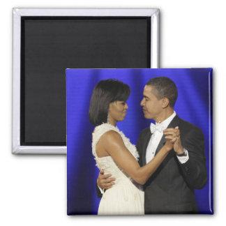 Presidente y primera señora Obama Inauguration Bal Imán De Frigorífico