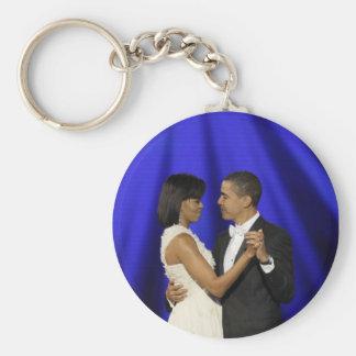 Presidente y primera señora Obama Inauguration Bal Llaveros