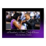 Presidente y primera señora Obama (topetón del Tarjeta De Felicitación