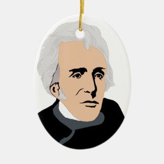 Presidentes americanos: Andrew Jackson 1829 - 1837 Adorno Ovalado De Cerámica