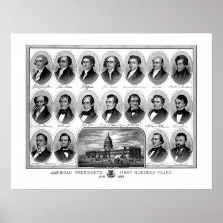 Presidentes americanos First cientos años Poster