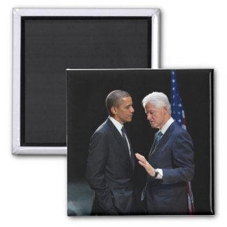 Presidentes Barack Obama y Bill Clinton Imán De Frigorífico