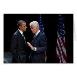 Presidentes Barack Obama y Bill Clinton Felicitaciones