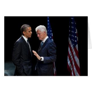 Presidentes Barack Obama y Bill Clinton Tarjeta De Felicitación