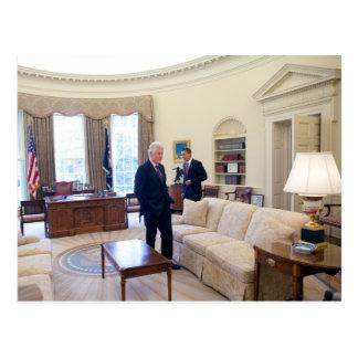 Presidentes Barack Obama y Bill Clinton Postal