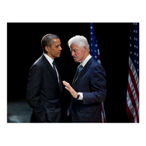 Presidentes Barack Obama y Bill Clinton Tarjeta Postal