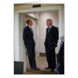 Presidentes Barack Obama y Bill Clinton Tarjetas