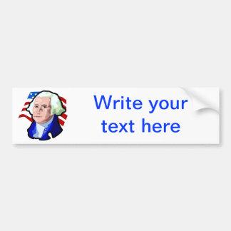 Presidentes Day, George Washington y bandera de lo Etiqueta De Parachoque