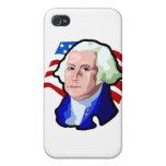 Presidentes Day, George Washington y bandera de lo iPhone 4 Cobertura