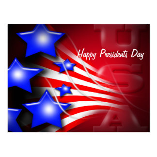 Presidentes Day Postcard Postal