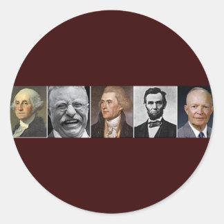 Presidentes de los E.E.U.U. Pegatina Redonda