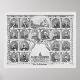 Presidentes de los Estados Unidos 1776 - 1876 Impresiones