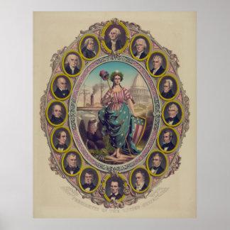 Presidentes de los Estados Unidos [1861] Impresiones