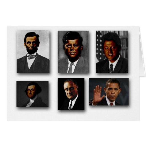 Presidentes de los Estados Unidos afroamericanos Tarjeta De Felicitación
