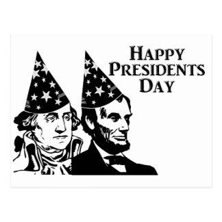 Presidentes felices Day Postal