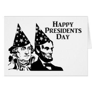 Presidentes felices Day Tarjeta Pequeña