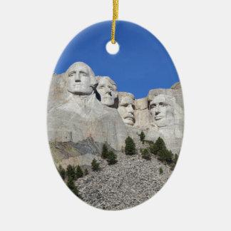 Presidentes los E.E.U.U. América del monte Adorno Navideño Ovalado De Cerámica