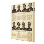 Presidentes los E.E.U.U., autógrafos, biografías 2 Impresión En Lona Estirada