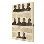 Presidentes los E.E.U.U., autógrafos, biografías Impresión En Lienzo Estirada
