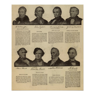 Presidentes los E E U U autógrafos biografías Posters