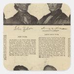Presidentes los E.E.U.U., autógrafos, biografías Calcomania Cuadradas