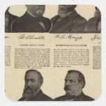 Presidentes los E.E.U.U., autógrafos, biografías Calcomanía Cuadrada