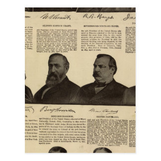 Presidentes los E.E.U.U., autógrafos, biografías Postal