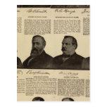 Presidentes los E.E.U.U., autógrafos, biografías Tarjeta Postal
