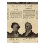Presidentes los E.E.U.U., autógrafos, biografías Tarjetas Postales